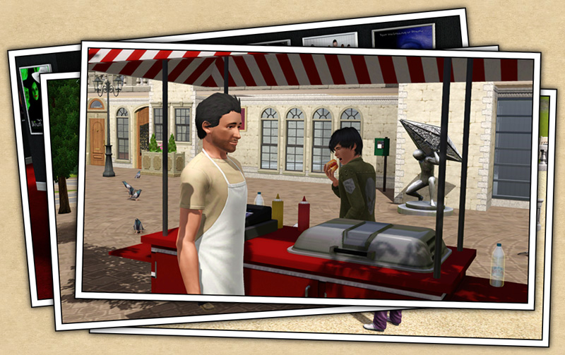 around the sims 3 custom content downloads objects food carts