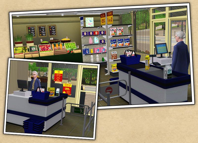 sims 4 supermarkt