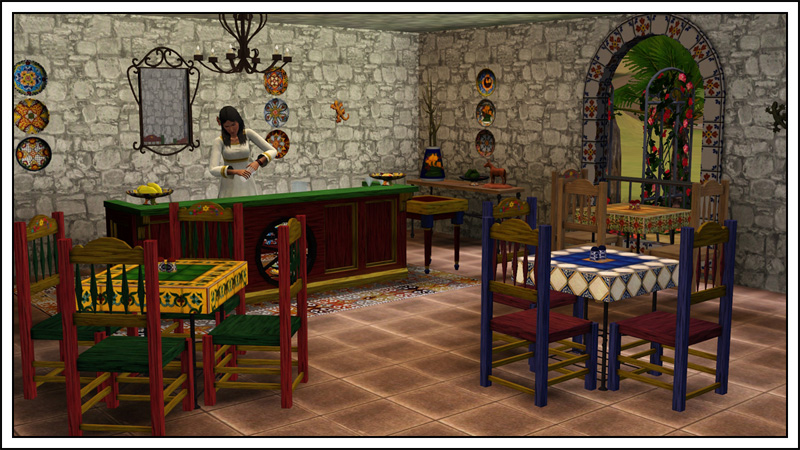 Around The Sims 3 | Custom Content Downloads| Objects | Mexican Restaurant