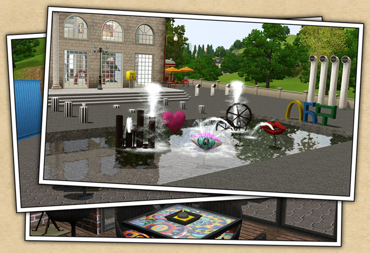 Around The Sims 3 | Custom Content Downloads| Objects | Modern Art Café