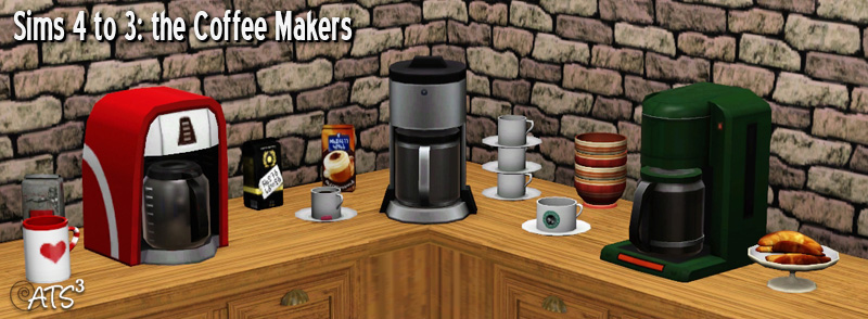 How To Use Coffee Maker In Sims Freeplay : Totally Sims 3 Updates: Coffee Pots And Makers