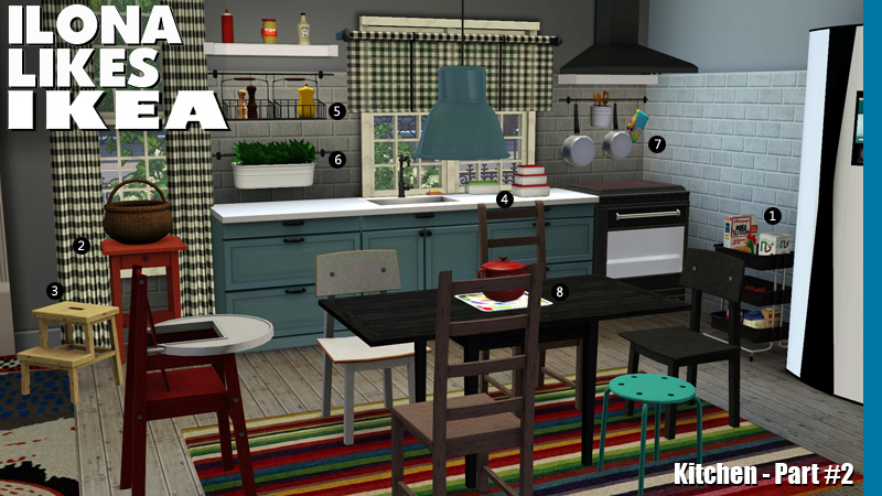 Image gallery sims 3 kitchen for Sims 2 kitchen ideas