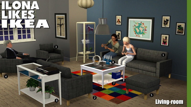 Around The Sims 3 | Custom Content Downloads| Objects | Living Room | Ikea