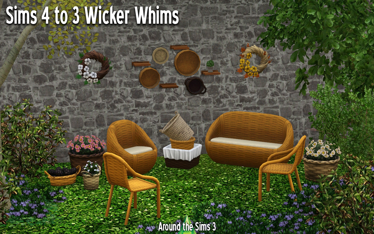 sims 3 cc furniture. Around The Sims 3 | Custom Content Downloads| Objects Outdoors 4 To Wicker Whims Cc Furniture